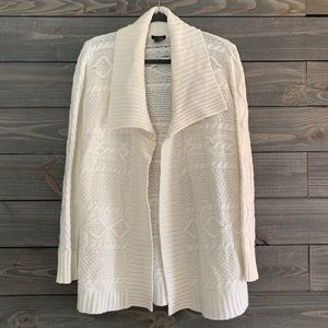 Ann Taylor Cream Cardigan Sweater